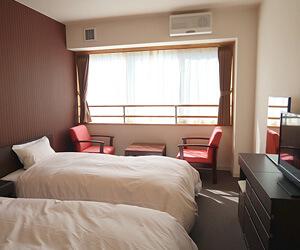 ビジネスホテル感覚のツインルーム